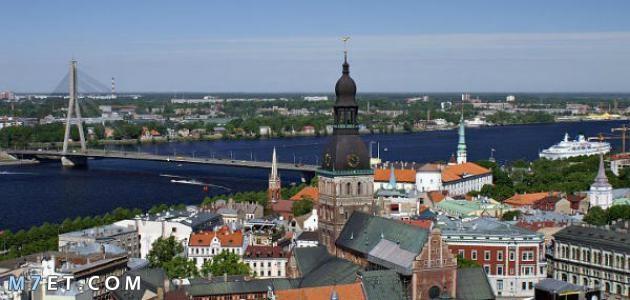 اين تقع لاتفيا واشهر المناطق السياحية بها