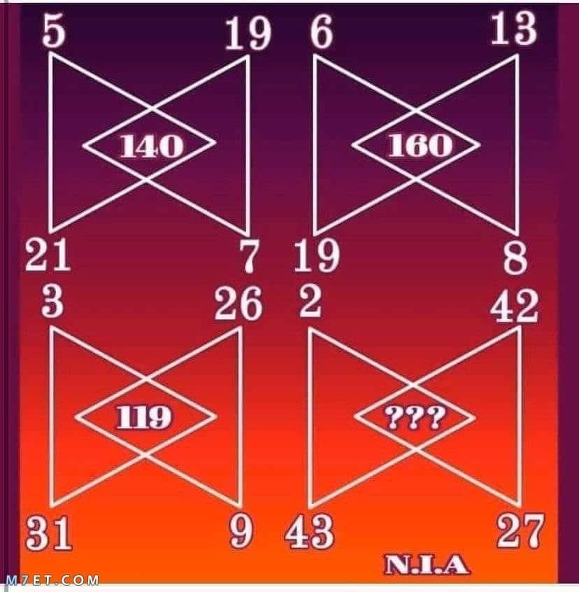 الغاز رياضيات للعباقرة 6