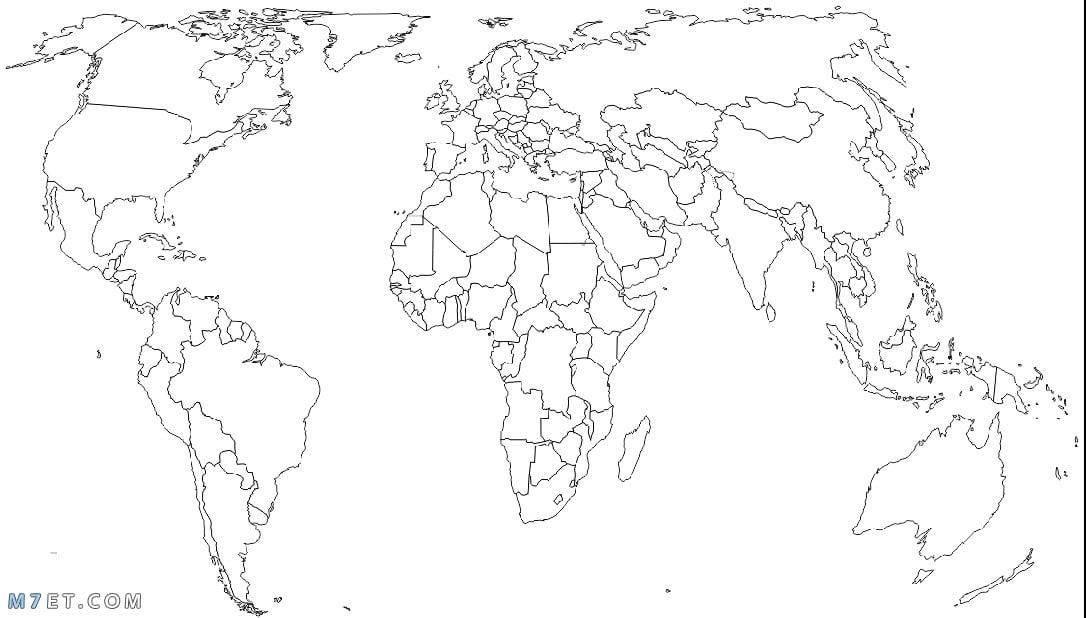 خريطة دول العالم بالحدود صماء
