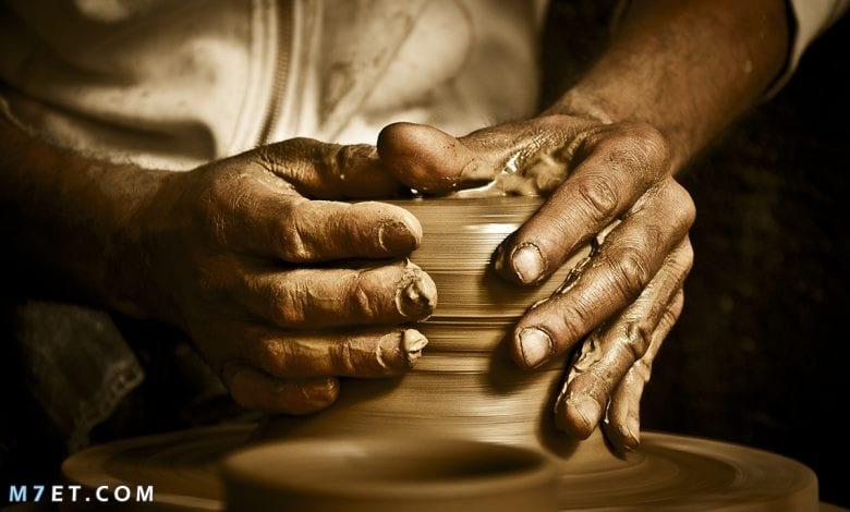 كيف صناعة الفخار بالخطوات