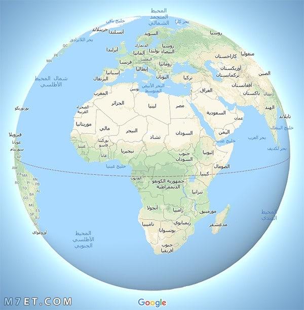 خريطة الوطن والعالم حقيقية