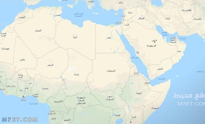 خريطة الوطن العربي والعالم