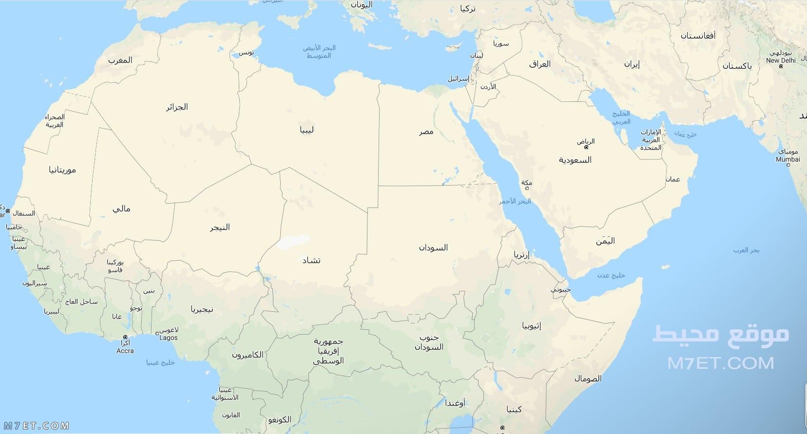 خريطة الوطن العربي 2020