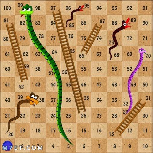 ما هي لعبة السلم والثعبان
