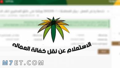 Photo of الاستعلام عن نقل الكفالة من خلال وزارة العمل على الانترنت