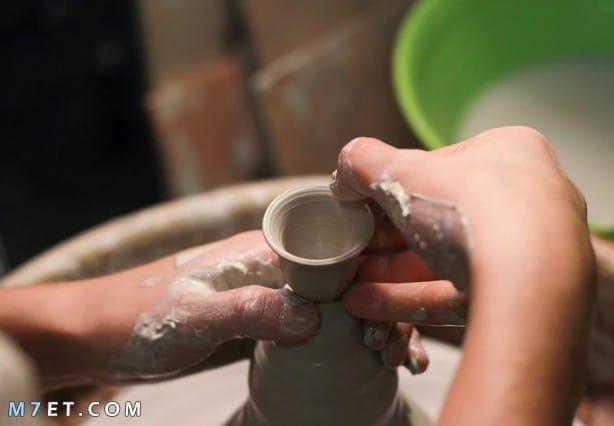 كيف تصنع الفخار
