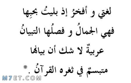 عبارات قصيرة عن اللغة العربية 1