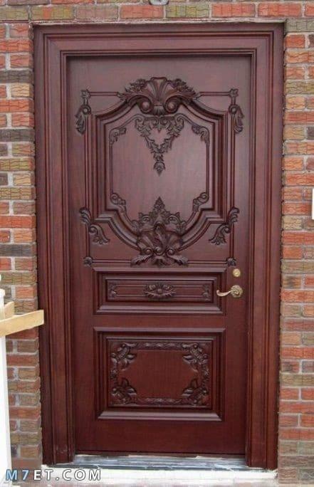 افضل تصميمات الأبواب الخشبية 2021