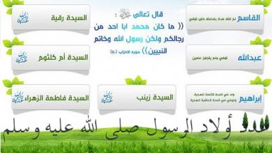 Photo of أبناء الرسول من السيده خديجه