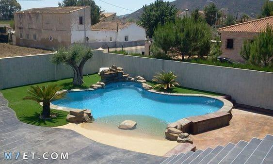 صور تصميمات حمامات السباحة الحديثة