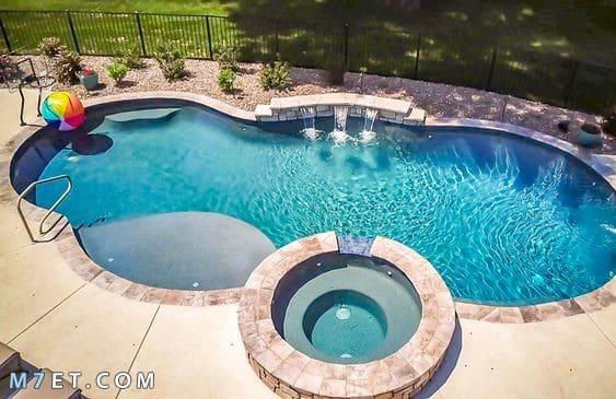 صور اشكال و ديكورات حمامات السباحة