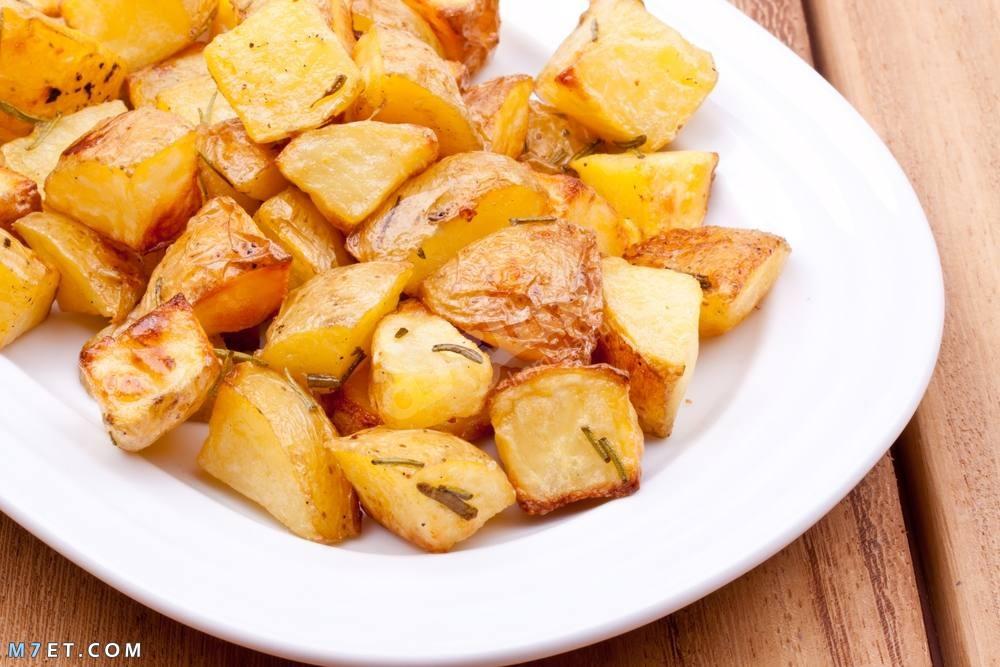 البطاطس المشوية بالثوم