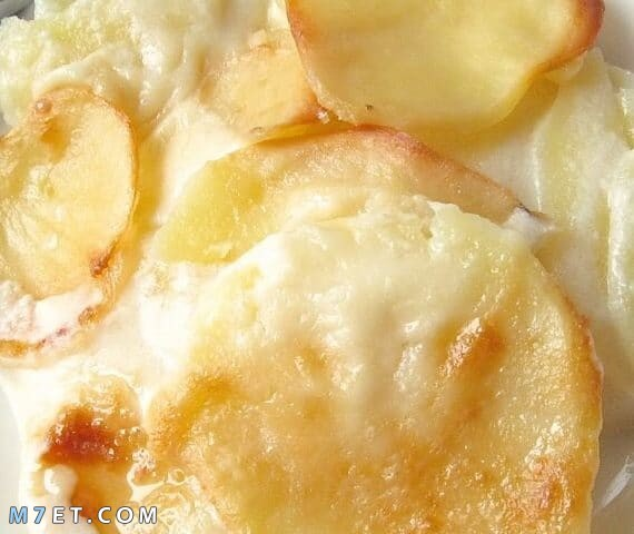 البطاطس بالبشاميل والجبنة