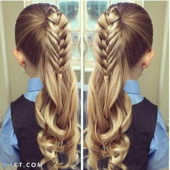 اجمل تسريحات الشعر المدرسية