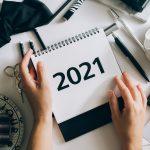 بطاقات العام الجديد جاهزة للطباعة والنسخ 2021