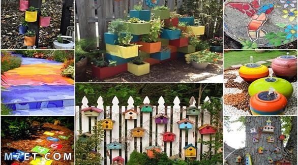 الألوان المناسبة لتزيين وتنسيق الحدائق
