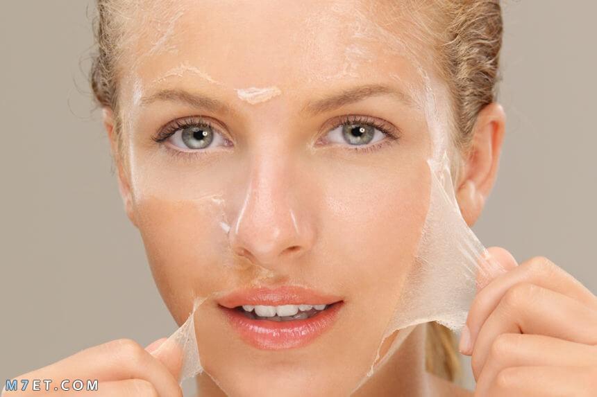 وصفات تقشير الوجه