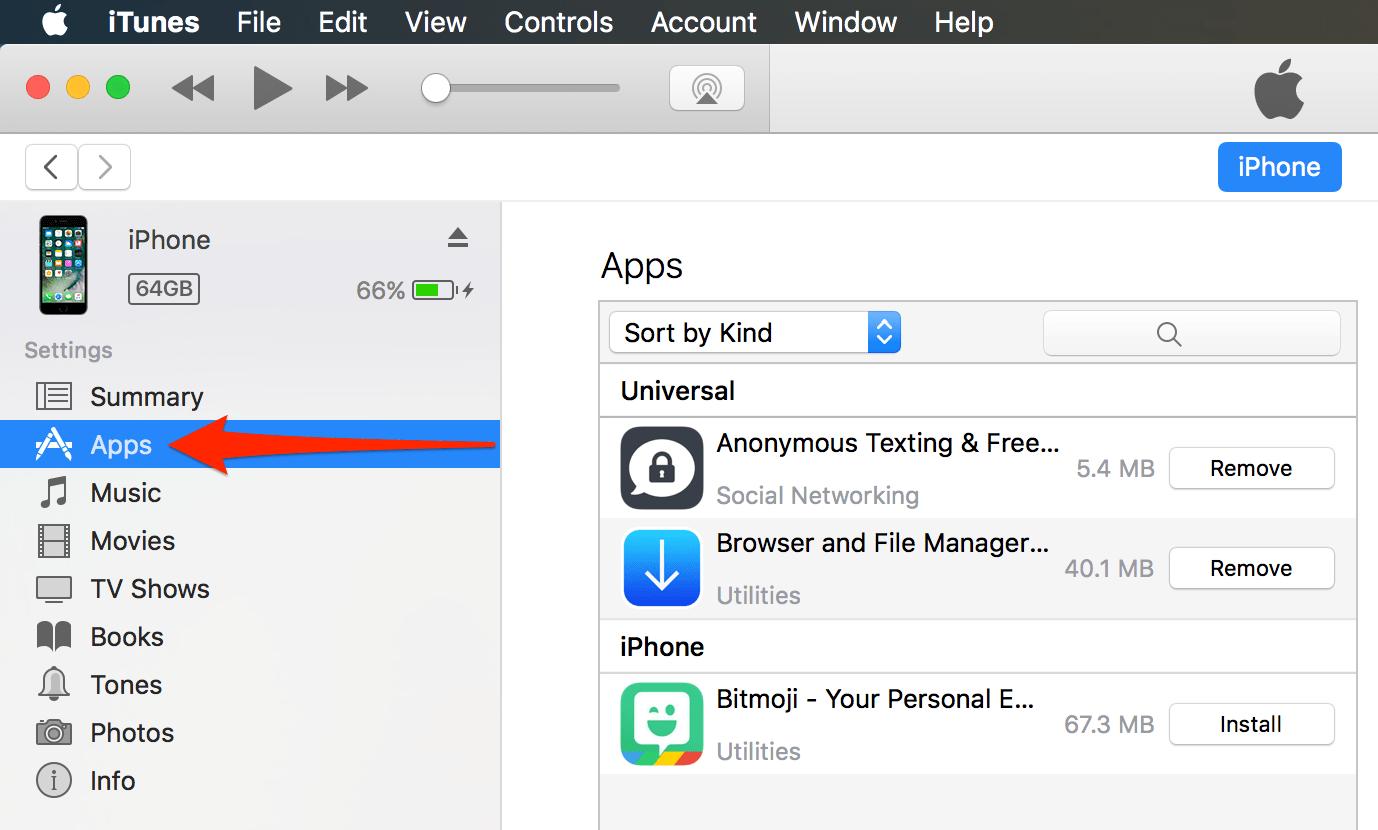 نقل الملفات من الكمبيوتر الى الآيفون