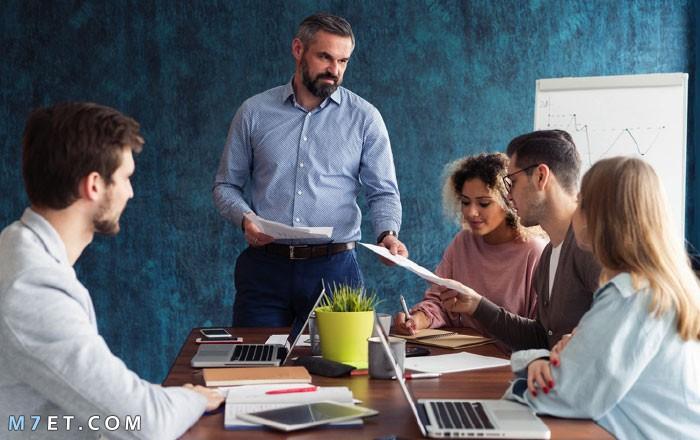بحث عن سلوكيات وقيم العمل