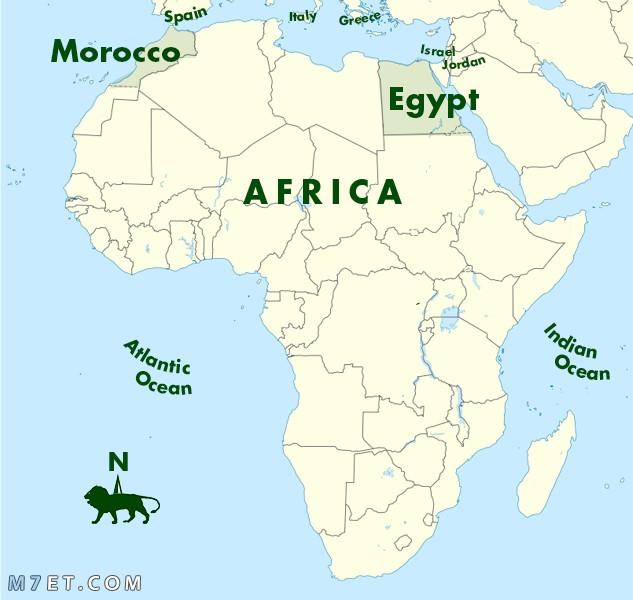 الموقع الجغرافي لمصر