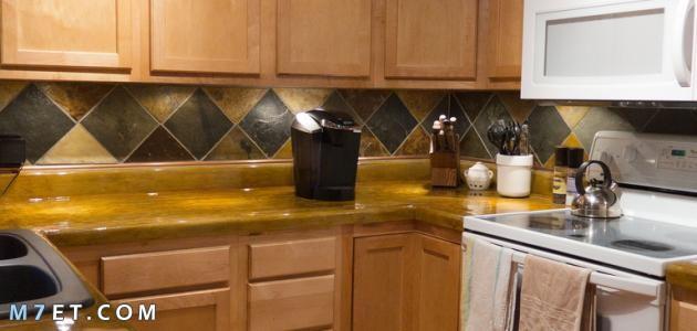 كيفية تنظيف دولاب المطبخ الخشب