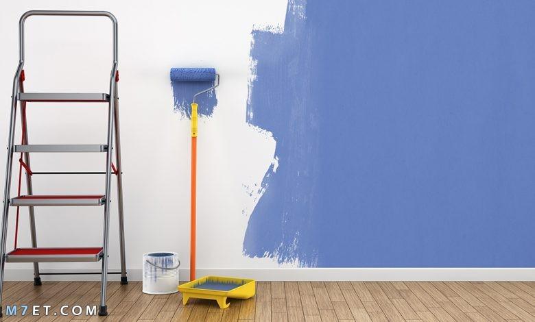 طريقة طلاء الجدران