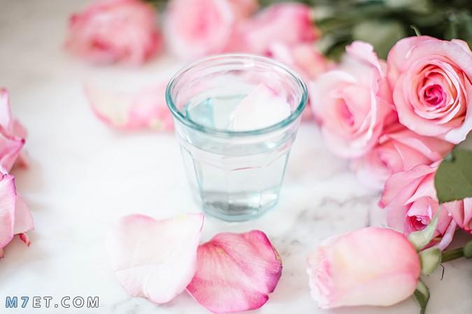 خلطة ماء الورد والنشا للوجه