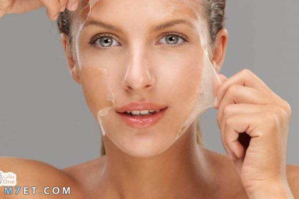 إزالة الجلد الميت من الوجه