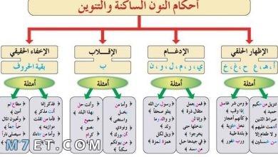 Photo of احكام النون الساكنة والتنوين مع الأمثلة