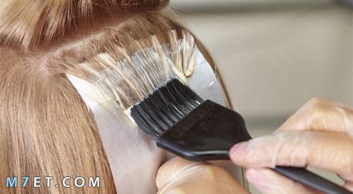 طريقة صبغ الشعر في البيت