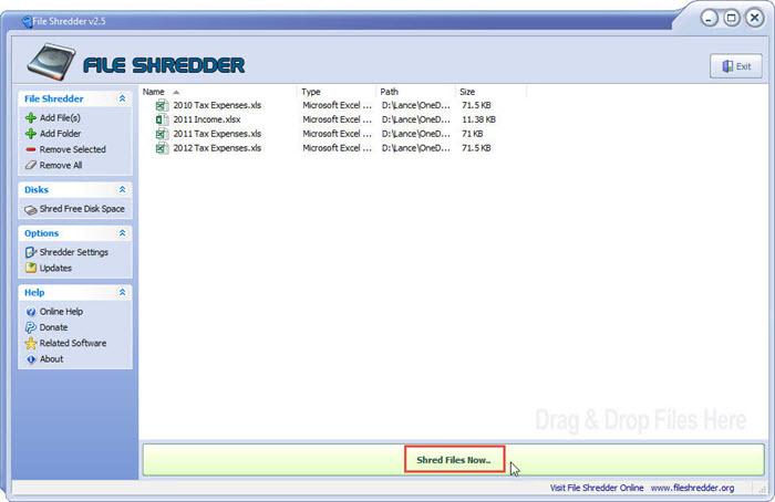 برنامج File Shredder