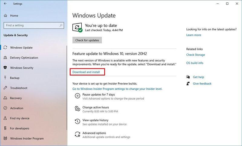 تحديث الويندوز 10 عبر تحديثات الويندوز