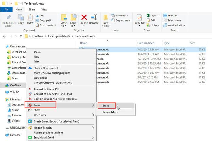حذف الملفات نهائي برنامج Eraser