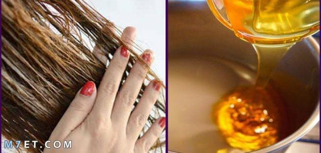 العسل للشعر