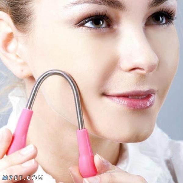 طريقة ازالة شعر الوجه