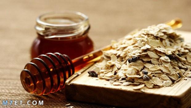 ماسك العسل والشوفان