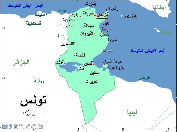 أين تقع تونس في الخريطة