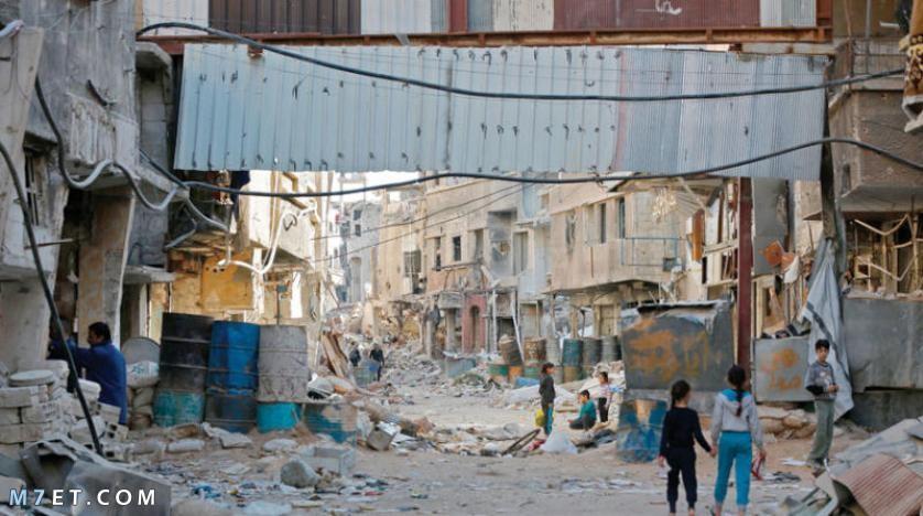 اين يقع مخيم اليرموك