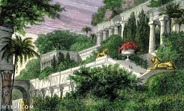 اين تقع حدائق بابل